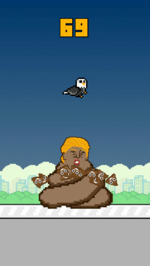 "Screenshot of ""Trump Dump"" game for iPhone (via Apple's App Store)"