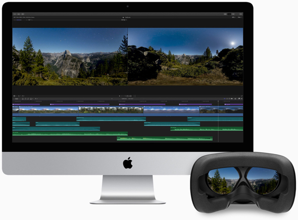 Final Cut Pro users can create immersive 360-degree films and view them in real time with a connected VR headset