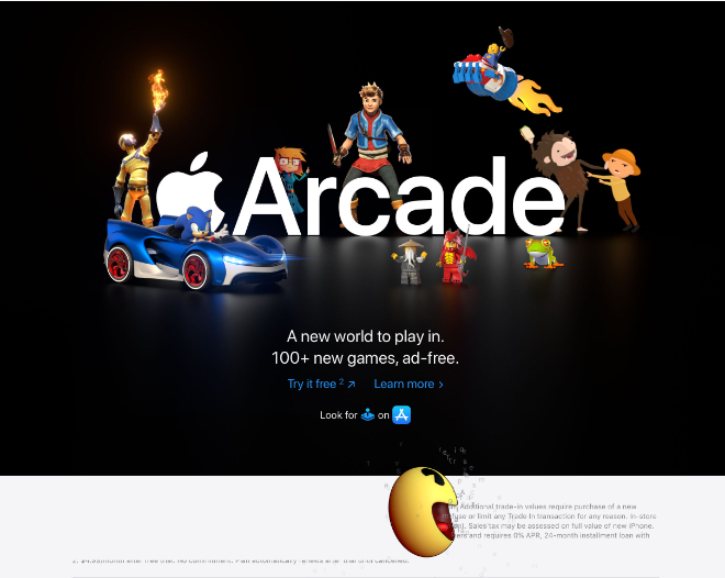 Apple Arcade promo whimsically takes over Apple.com