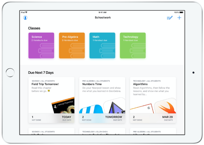 photo of Apple soon to release new Schoolwork and Classroom apps focused on  distance-learning image