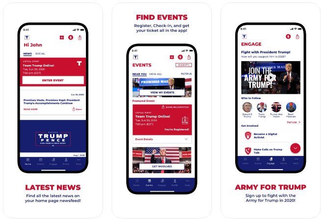 Trump campaign builds full-featured iPhone app as Twitter alternative to get his voice out