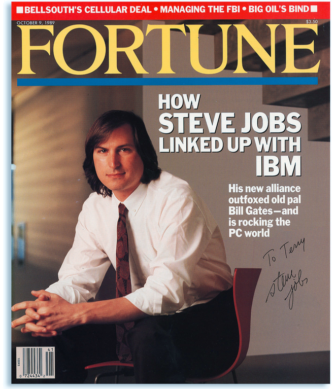 photo of Fortune magazine autographed by Steve Jobs sells for $16,638 image