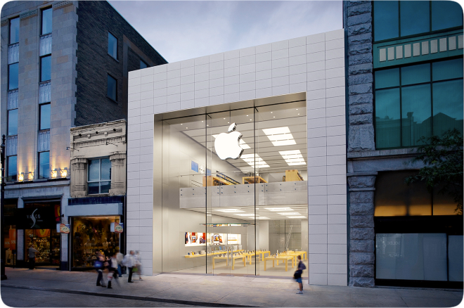photo of Montreal's flagship Apple Store closed until further notice due to COVID-19 image