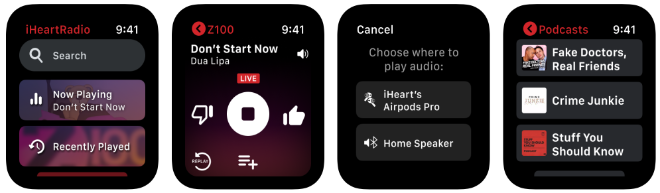 photo of iHeart: Radio, Music, Podcasts app is now available on Apple Watch image