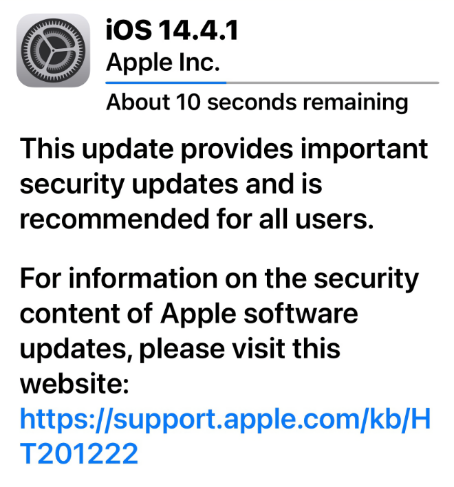 photo of Apple releases iOS 14.4.1 and iPadOS 14.4.1 image